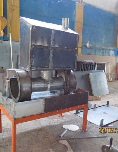 دستگاه تولید هوای گرم مبدل حرارتی